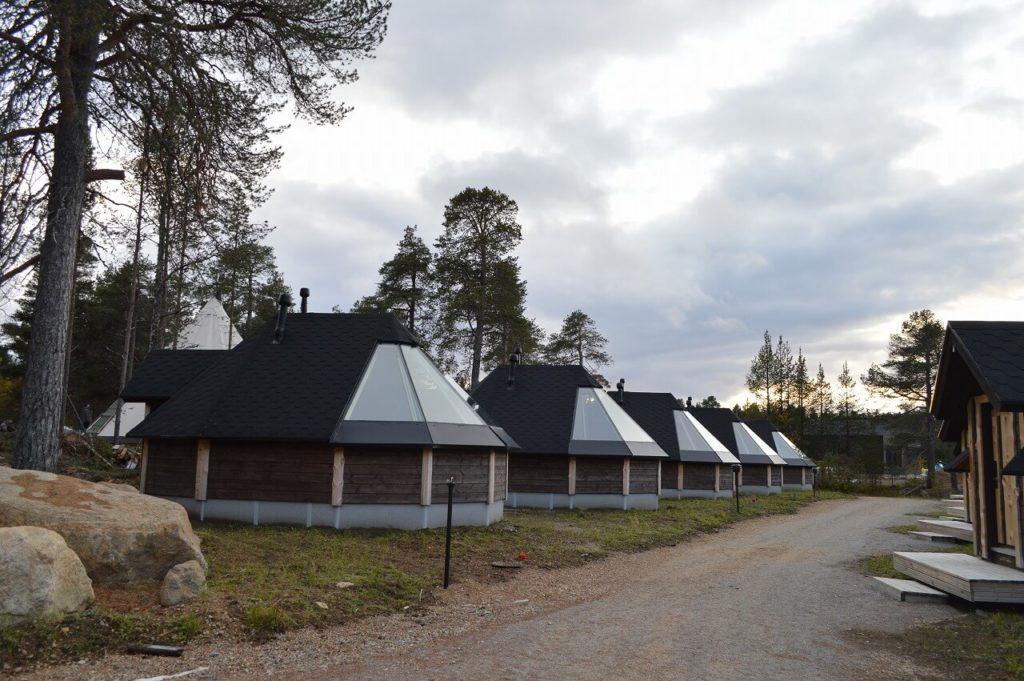 フィンランドのイナリのホテル「Wilderness Hotel Inari」にあるサウナ