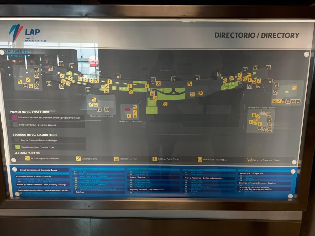 リマ国際空港のマップ