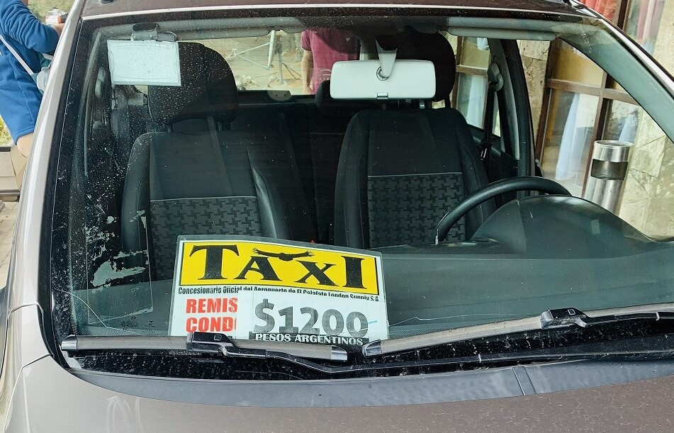 エルカラファテの空港タクシー