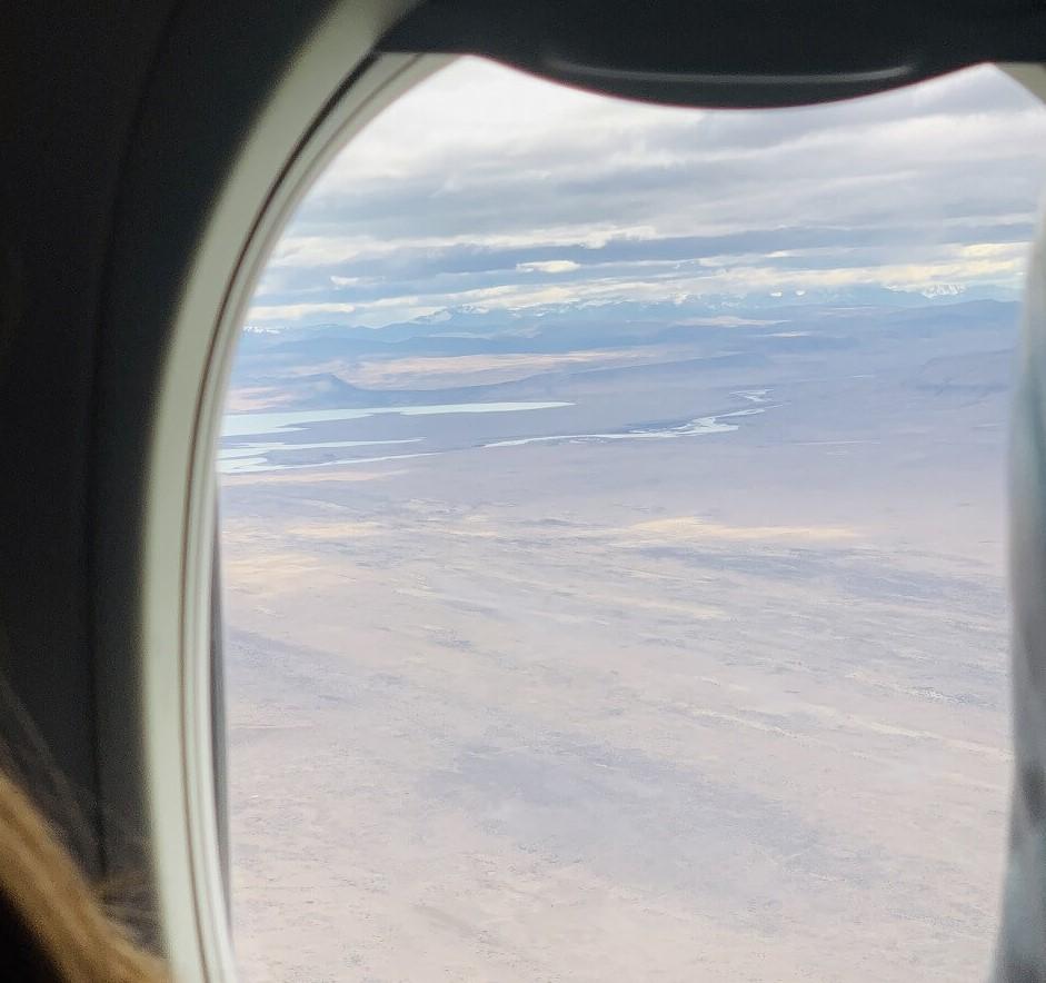 エルカラファテ息の飛行機