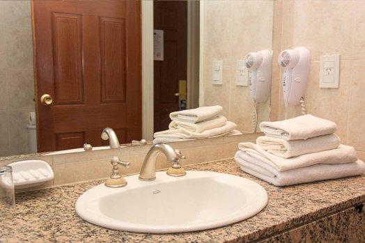 エルカラファテのホテルバスルーム