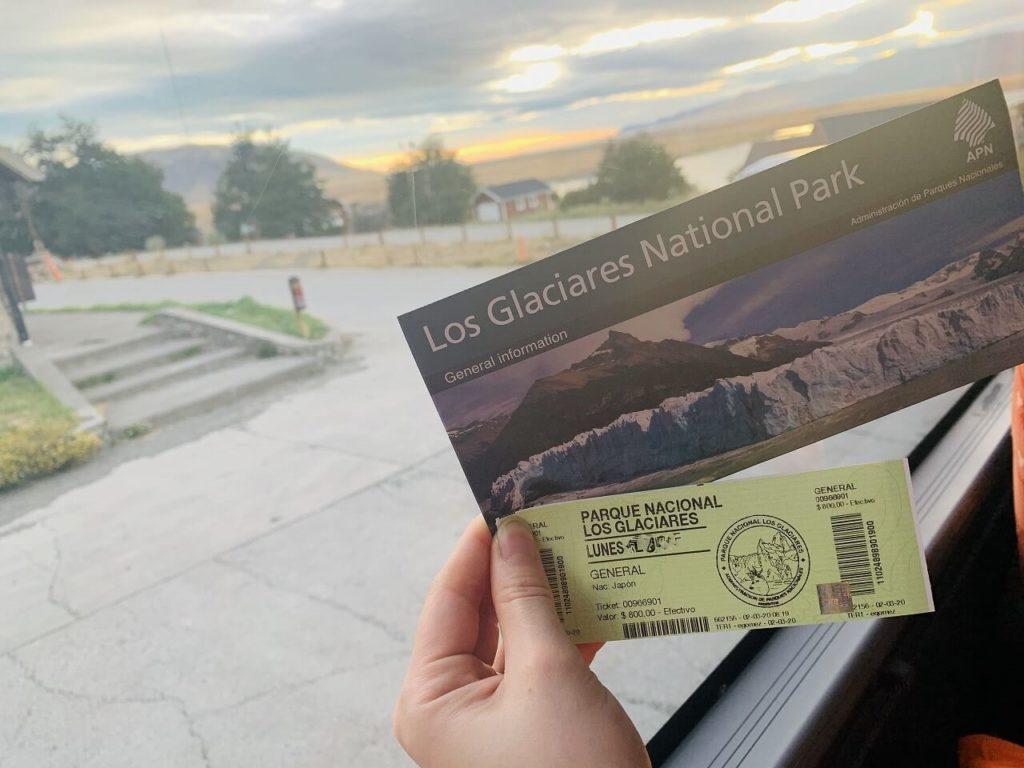 ロス・グラシアレス国立公園のチケット