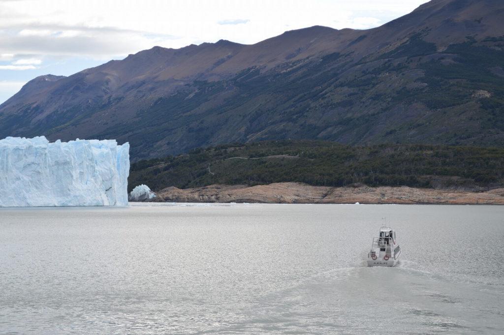 Los Glaciares National Park の船からの風景