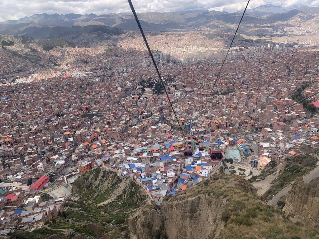 ミテラフェリコから見えるラパスの景色