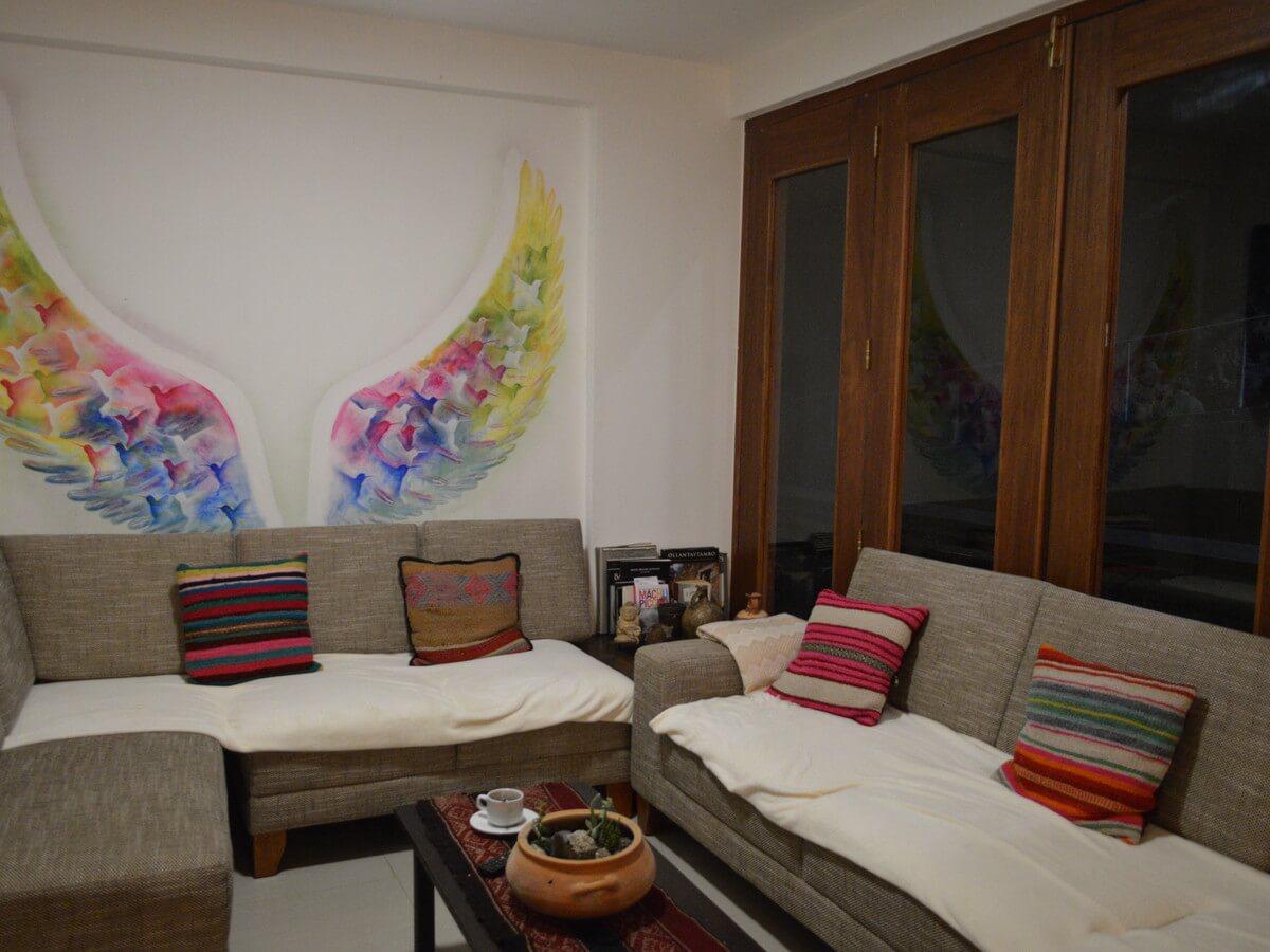 マチュピチュのホテル「Susanna Inn Machu Picchu Hotel」のフロント