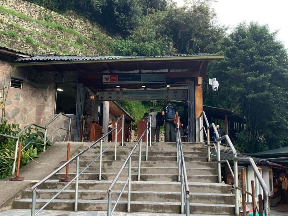 マチュピチュ遺跡の入り口