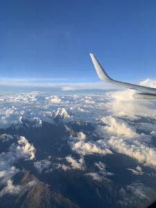 リマからクスコへ向かう飛行機