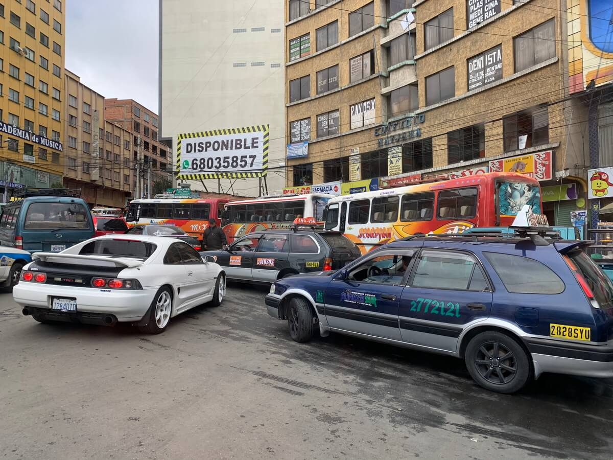 ラパスの交通渋滞
