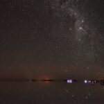 ウユニ塩湖の星空と星明り