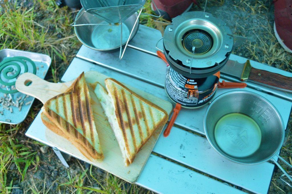 マキノ高原キャンプ場での朝ごはん