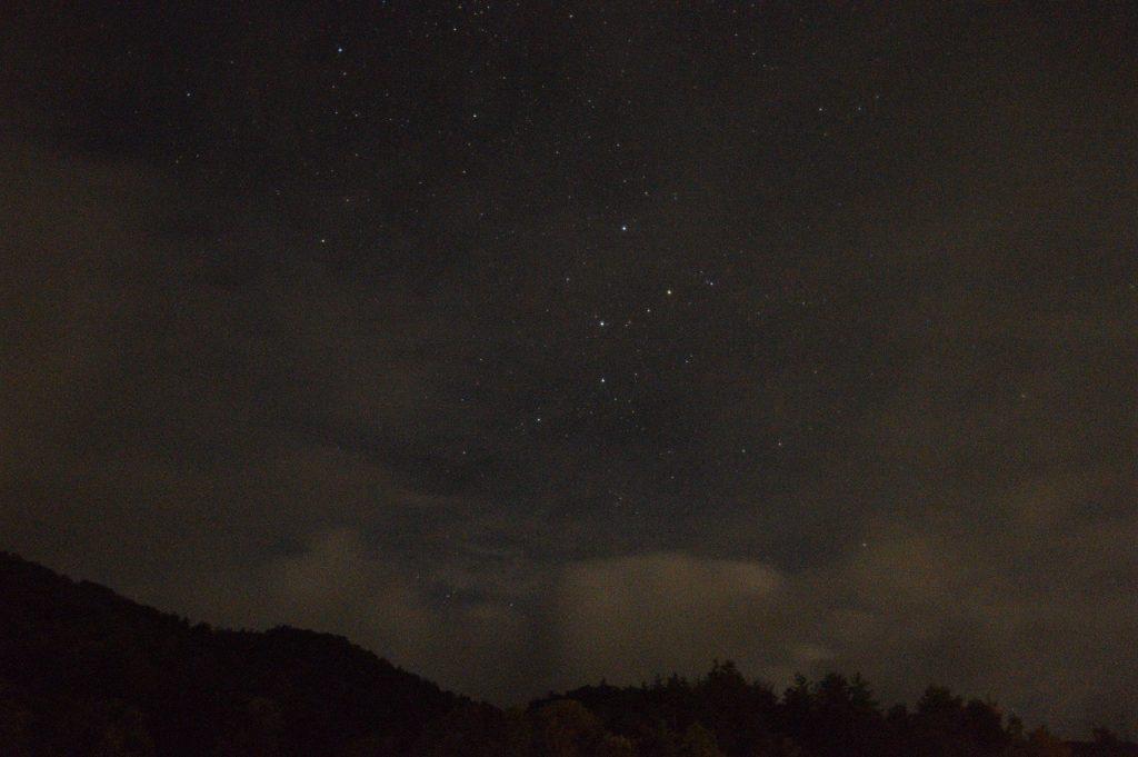 マキノ高原キャンプ場の星空