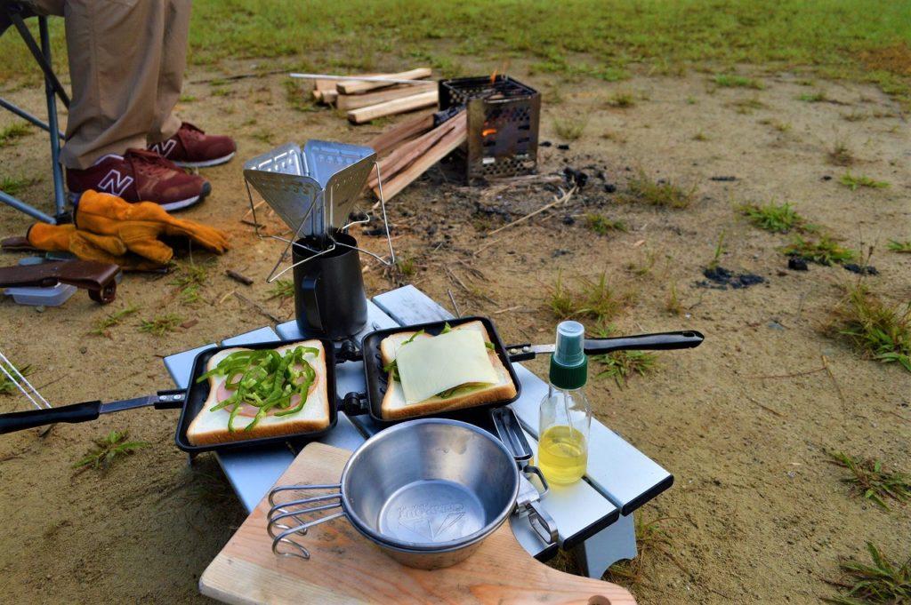 スノーピーク箕面キャンプフィールドでの朝ごはん