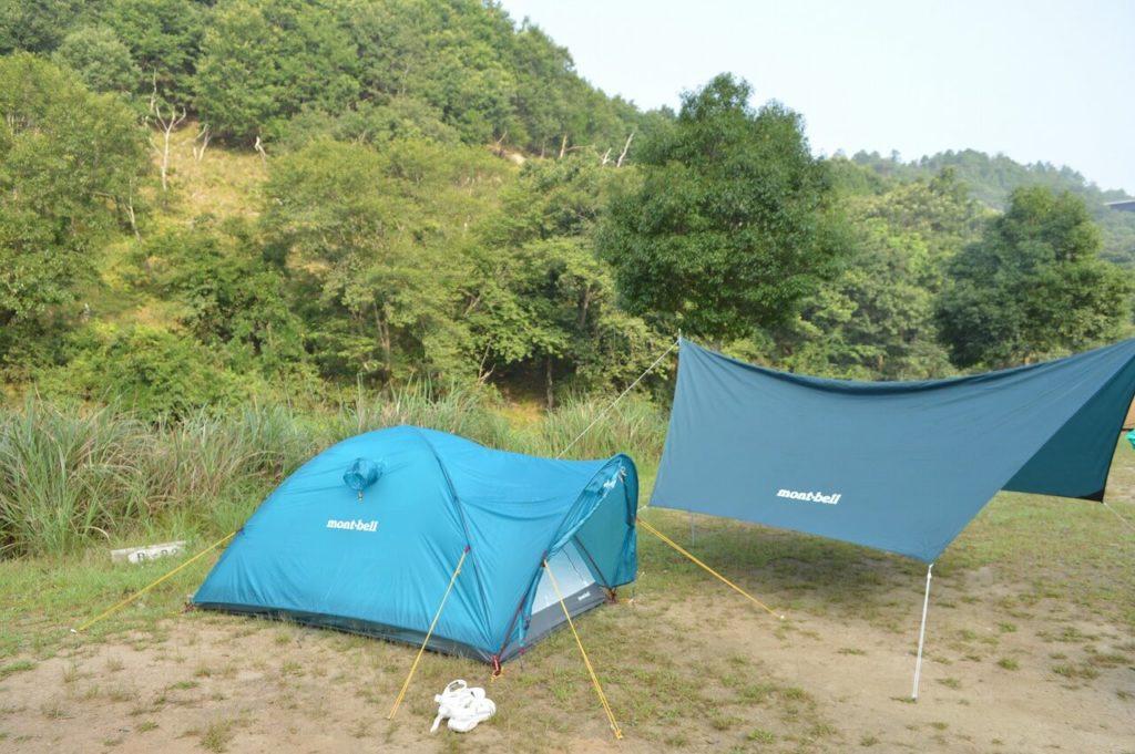 スノーピーク箕面キャンプフィールドテント
