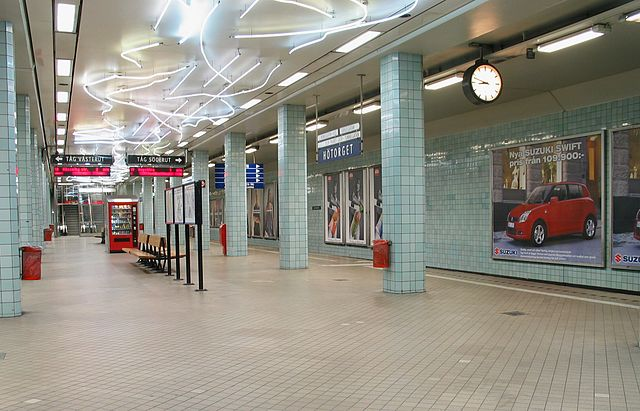 ストックホルムの地下鉄「Hötorget 駅」
