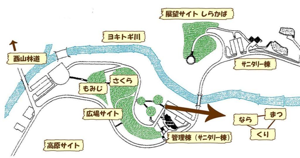 マキノ高原キャンプ場の広場サイト