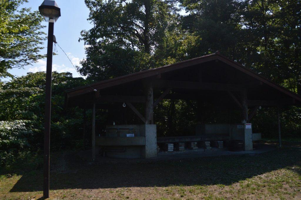 神鍋高原キャンプ場の炊事場