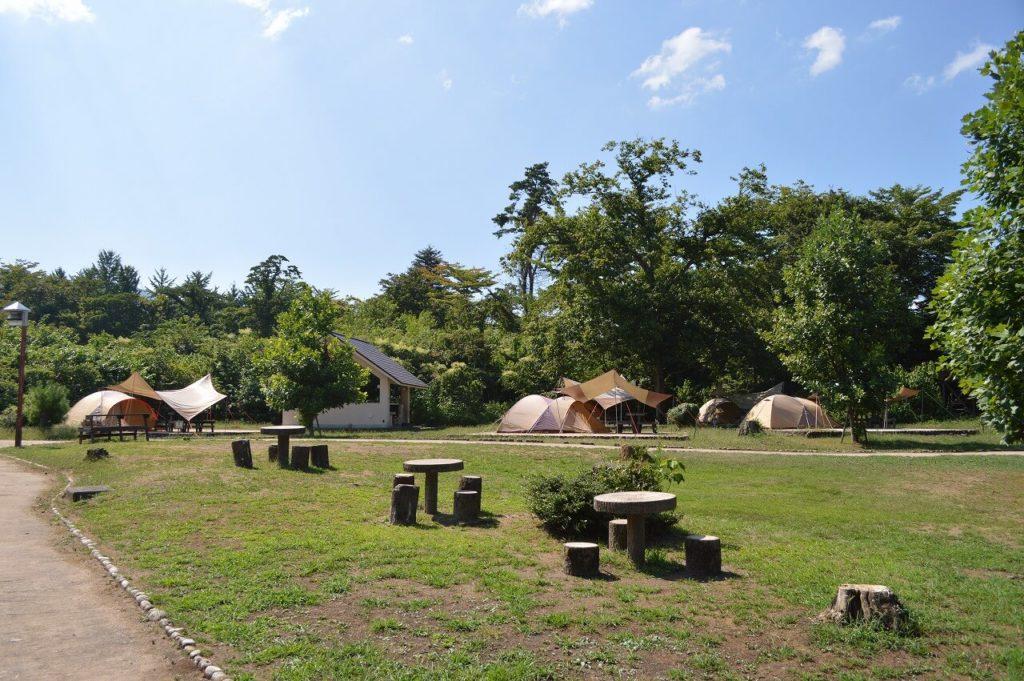 神鍋高原キャンプ場のキャンプサイト