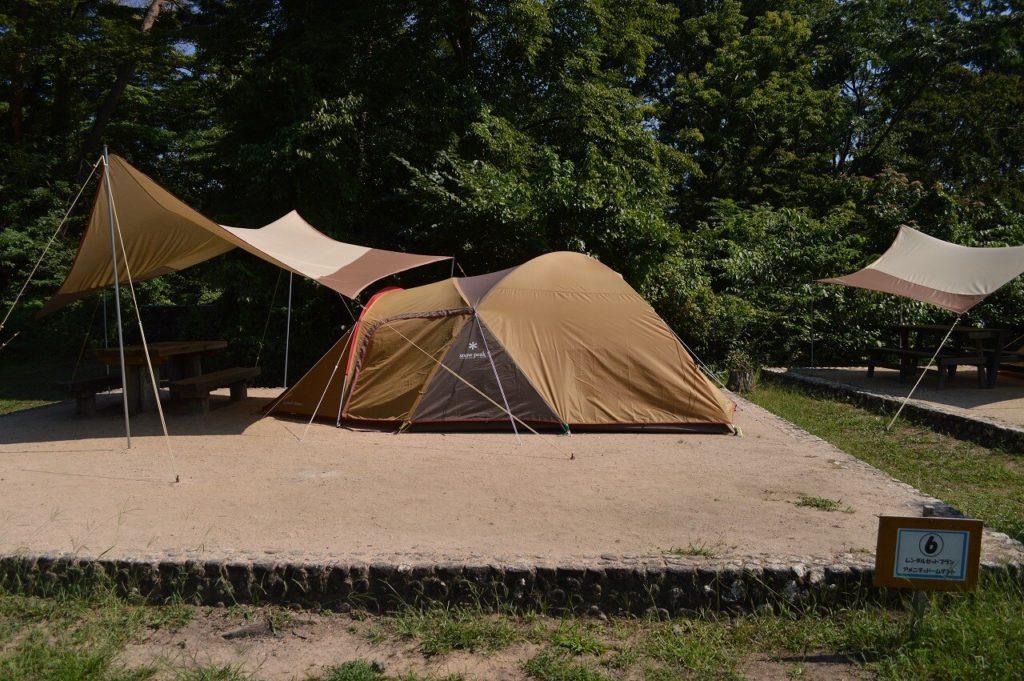 神鍋高原キャンプ場の手ぶらキャンプサイト