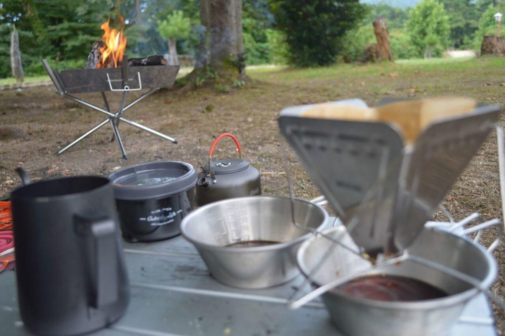 神鍋高原キャンプ場でのコーヒー