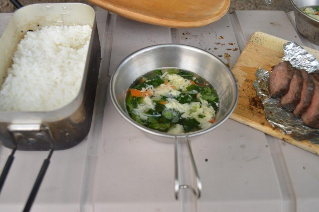 神鍋高原キャンプ場でのキャンプ飯