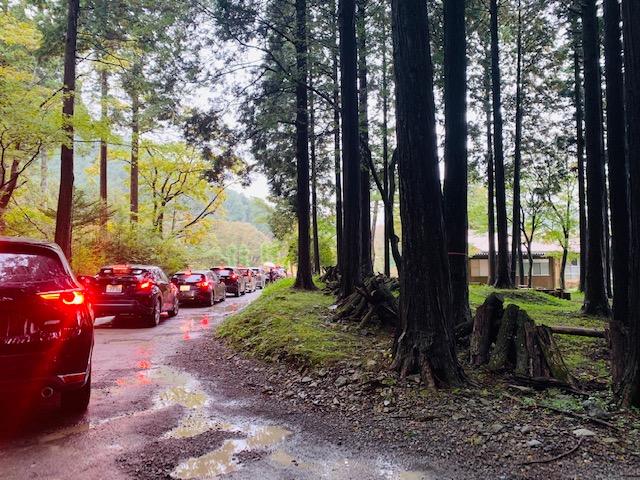 ふもとっぱらキャンプ場の渋滞