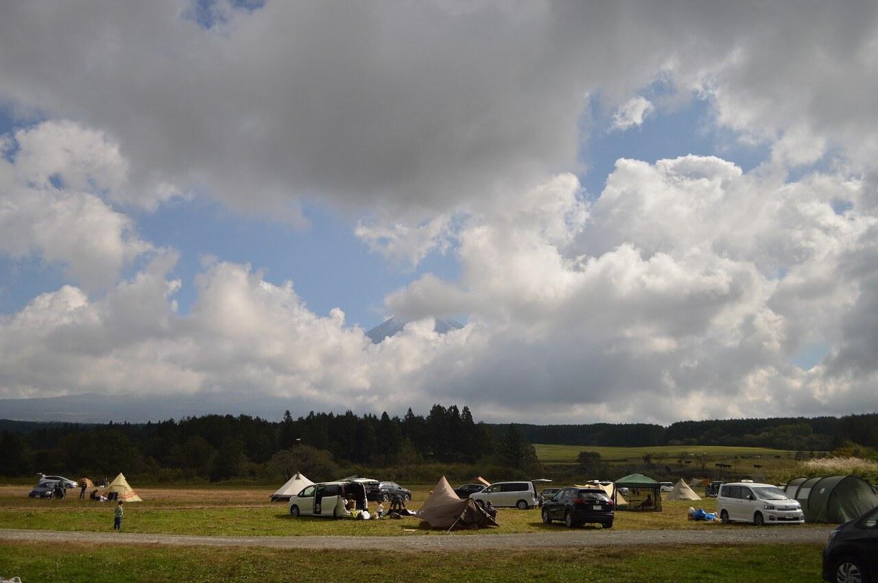 ふもとっぱらキャンプ場最終日の朝