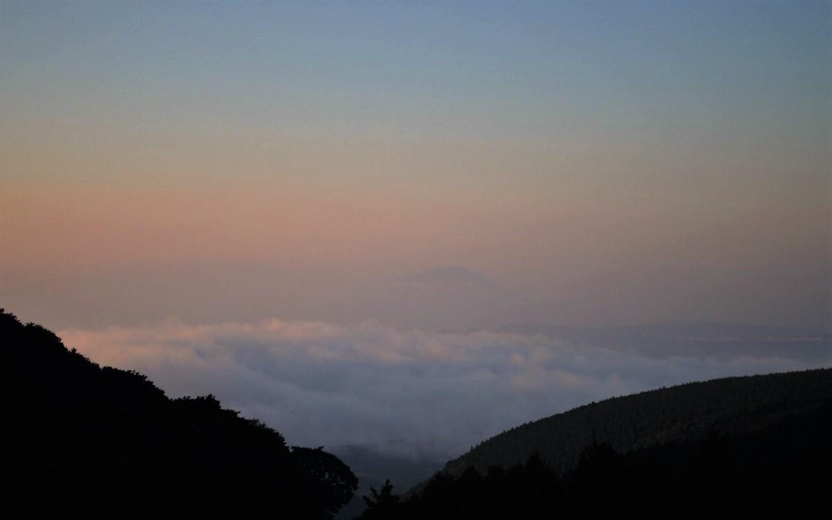 桜島と雲海