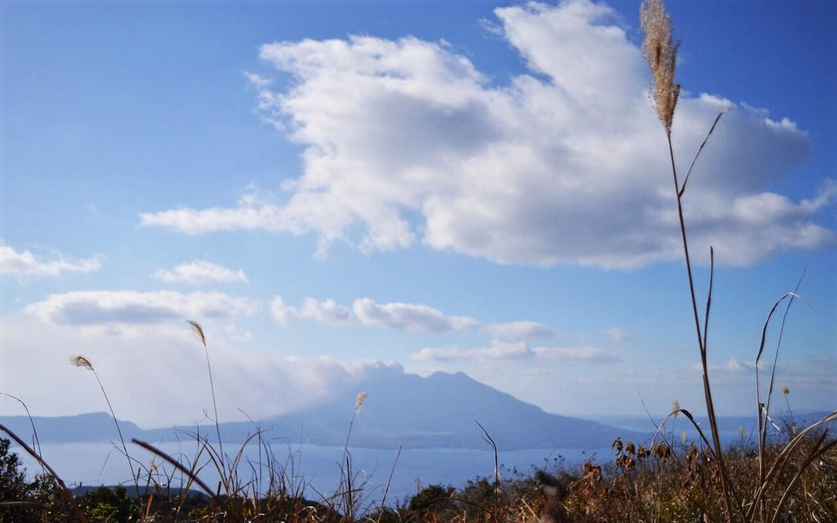 鹿児島にある狐ヶ丘から見える桜島