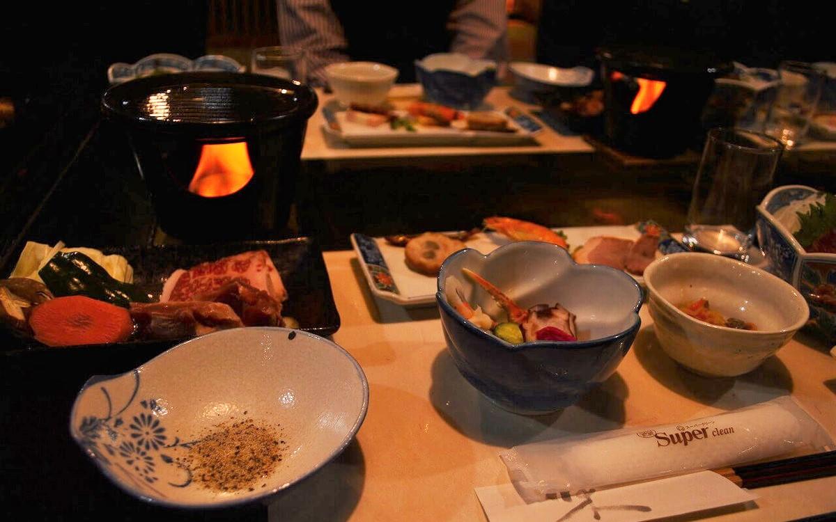 霧島温泉 旅の湯の1日目の夕食